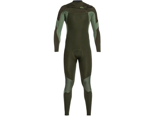 Quiksilver 3/2 Syncro Chest Zip Wetsuit GBS Men dark ivy/ shade olive
